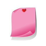 Pink Paper Note Royalty Free Stock Image