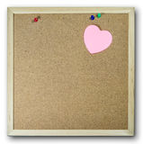 Pink paper note background cork board Royalty Free Stock Images
