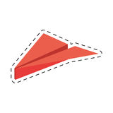 Pink paper plane origami funny cut line. Illustration eps 10 Royalty Free Stock Photography