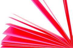 Pink paper records Stock Images