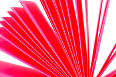 Pink paper records Royalty Free Stock Images