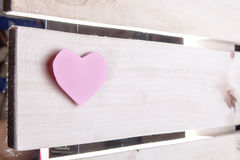 Pink paper Saint Valentines hearts Stock Photo