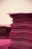 Pink papers Royalty Free Stock Images