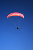 Pink paraglider. On the sky Stock Image
