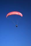 Pink paraglider Stock Image