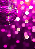 Pink party. Disco background with glowing lights Stock Photography