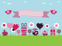 Pink party stock illustration