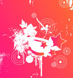 Pink party. Design with a shallow gradient to orange Royalty Free Stock Image