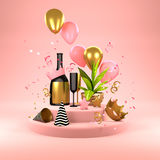 Pink Party Background vector illustration