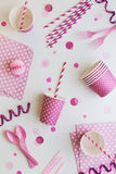 Pink party background Stock Images