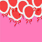Pink Party Background for your Text with Paper. Balloons. Vector Illustration Stock Photos