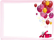 Pink Party Border Royalty Free Stock Images