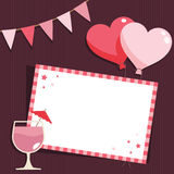 Pink party card Royalty Free Stock Photography