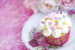 Pink Party Cupcake Royalty Free Stock Photo