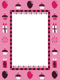 Pink party frame Stock Images