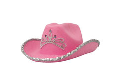 Pink Party Hat. Pink cowboy or cowgirl party hat on a white background Royalty Free Stock Image