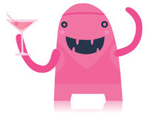 Pink Party Monster Royalty Free Stock Photo