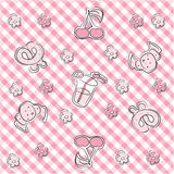 Pink pastel baby background Royalty Free Stock Images