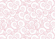 Pink Pastel Spiral on white Vector Background Royalty Free Stock Photos
