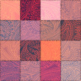 Pink patchwork with paisley Royalty Free Stock Photography