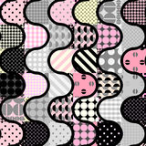 Pink patchwork pattern Stock Photography