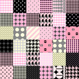 Pink patchwork pattern Stock Images