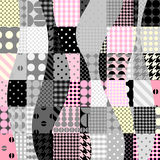 Pink patchwork pattern Royalty Free Stock Photo