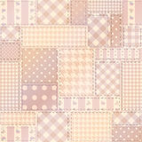 Pink patchwork of rectangles. Stock Photos