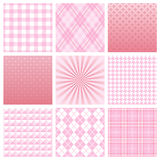 Pink pattern. Set of pink patterns.  Vector illustration Stock Image