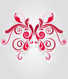 Pink pattern. Abstract floral backround with beautiful pink patterned butterfly royalty free illustration