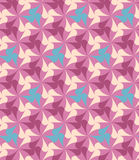 Pink pattern. The composition consists of repeated elements of four colours Royalty Free Stock Images
