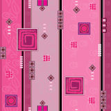 The pink pattern. With different elements Royalty Free Stock Photo
