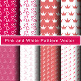 Pink pattern abstract background vector. Pink and white line pattern abstract background vector Royalty Free Stock Photos