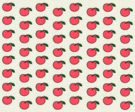 Pink pattern with apples Stock Photo