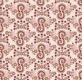 Pink pattern with a decorative flourish Stock Photos