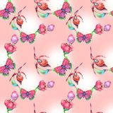 Pink pattern for Easter Royalty Free Stock Images