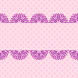Pink pattern with floral stripe Stock Image