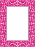 Pink pattern frame with text box Stock Images
