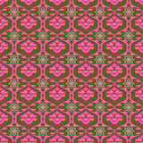 Pink pattern with geometric elements. On a dark green background royalty free illustration