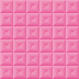 Pink pattern quilt effect with buttons Royalty Free Stock Images