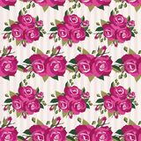 Pink pattern with roses inflorescence Royalty Free Stock Photos