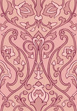 Pink pattern with stylized birds. vector illustration