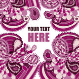 Pink pattern. Vector color pink  pattern with text frame Royalty Free Stock Images