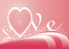 Pink pattern vector Valentines Day card Royalty Free Stock Photography