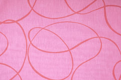 Pink patterned fabric Stock Image