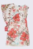 Pink patterned silk dress Stock Image