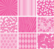 Pink patterns Royalty Free Stock Photography