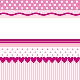 Pink Patterns. Bright pink patterns as background image with blank space for text Stock Photo