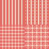 Pink patterns set Stock Image