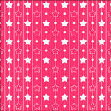 Pink patterns with stars and stripes. Princess series Royalty Free Stock Photo